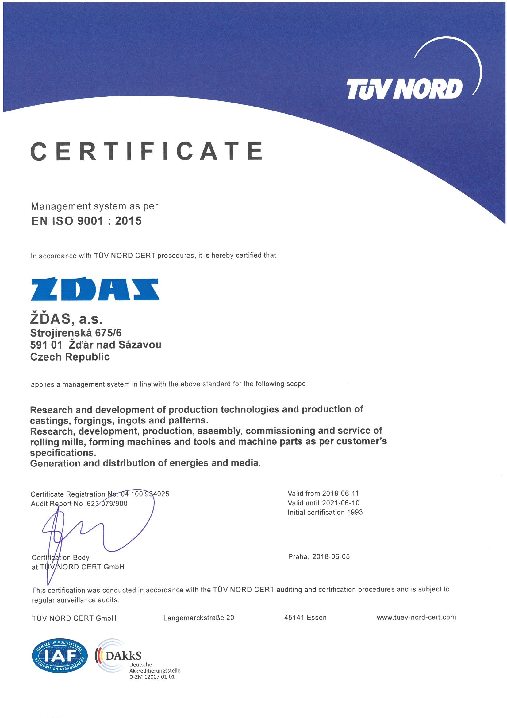 Integrated Control System Certifications | ŽĎAS