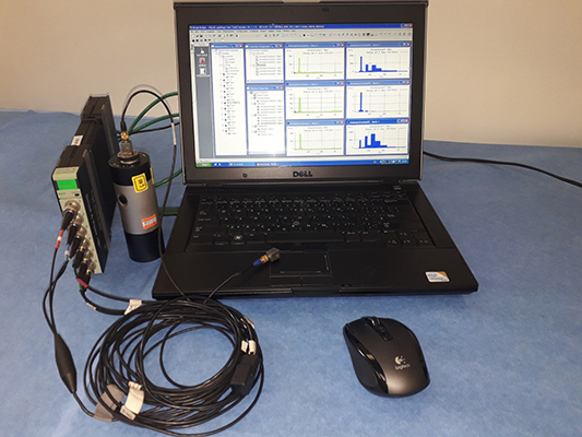 Multi-analyser PULSE LAN-XI including acceleration sensors from B&K